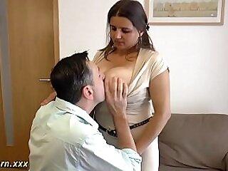 massive titty german gives hot titjob
