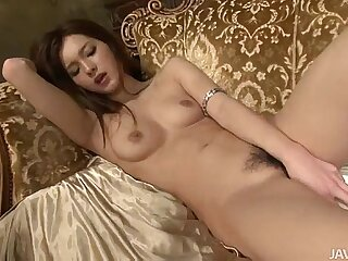 Lovely Mei looks curious take and chiefly blond painless she toys her sweet Japanese pussy 5