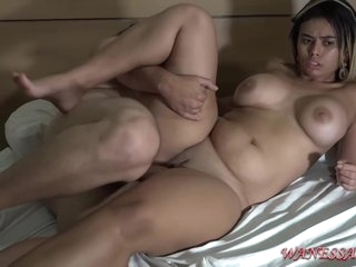 Insatiable babe, Wanessa Boyer likes to ride a rock hard cock and even have humidity threesomes