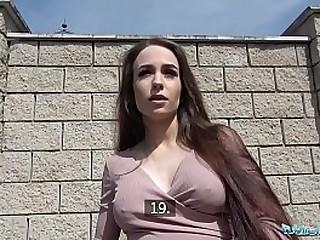 Pretty Russian slut sucking cock